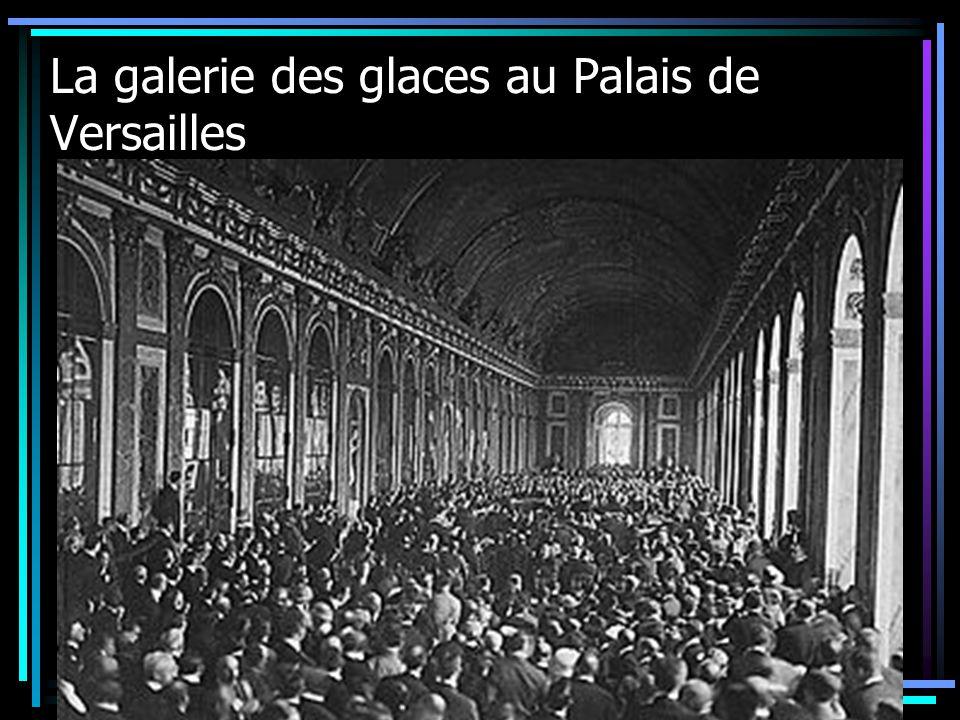La galerie des glaces au Palais de Versailles