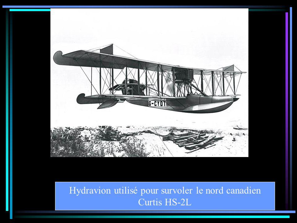 Hydravion utilisé pour survoler le nord canadien Curtis HS-2L