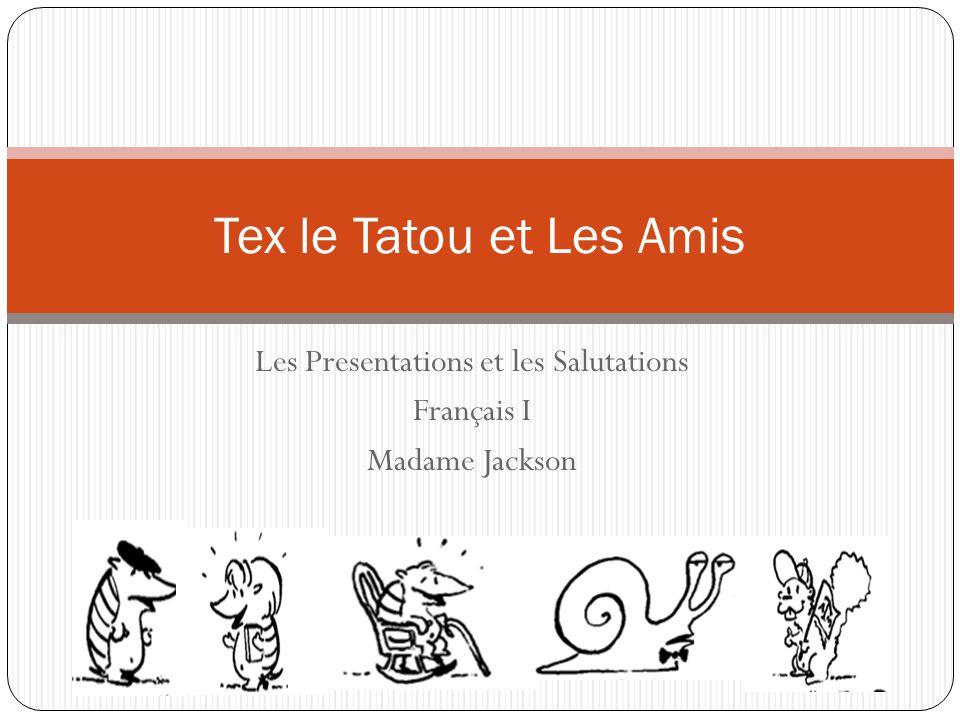 Les Presentations et les Salutations Français I Madame Jackson Tex le Tatou et Les Amis