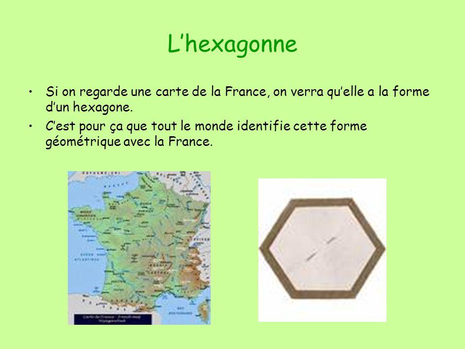 Lhexagonne Si on regarde une carte de la France, on verra quelle a la forme dun hexagone.