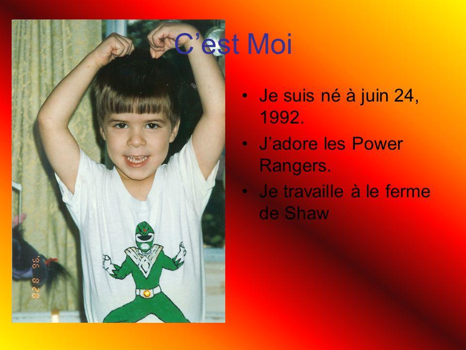 Cest Moi Je suis né à juin 24, 1992. Jadore les Power Rangers. Je travaille à le ferme de Shaw
