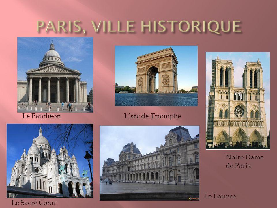 Le PanthéonLarc de Triomphe Notre Dame de Paris Le Louvre Le Sacré Cœur