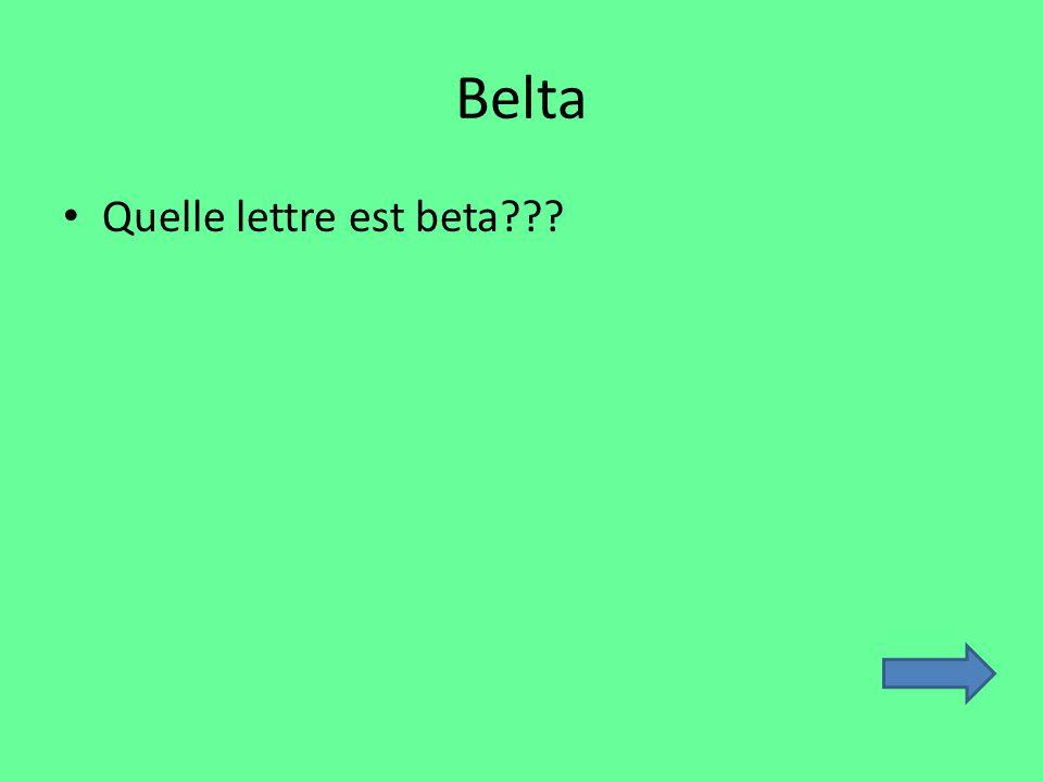 Belta Quelle lettre est beta
