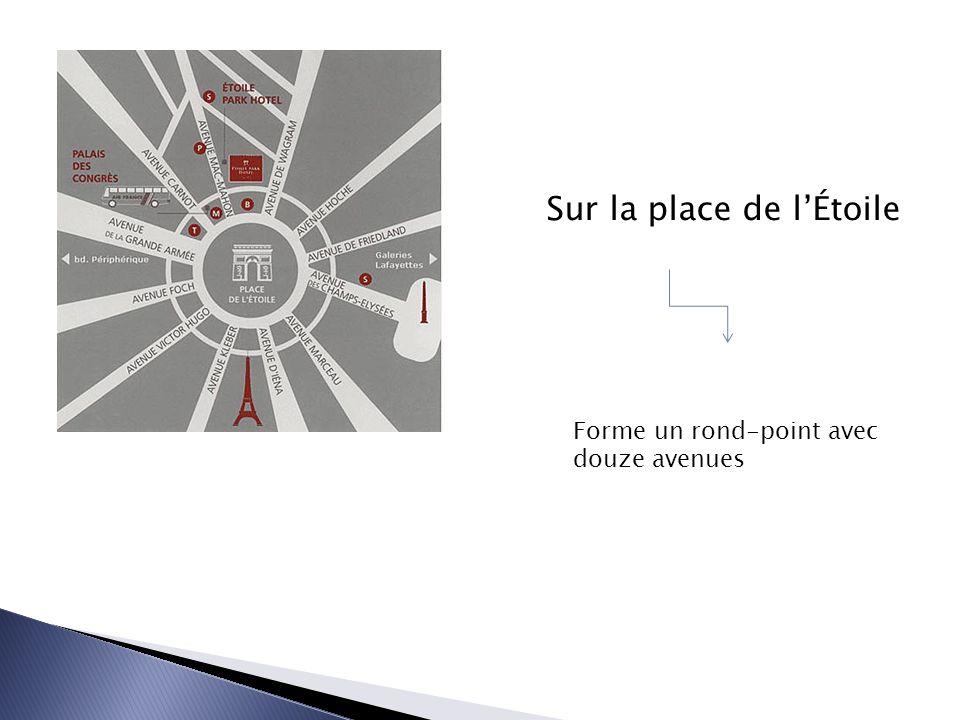 Forme un rond-point avec douze avenues