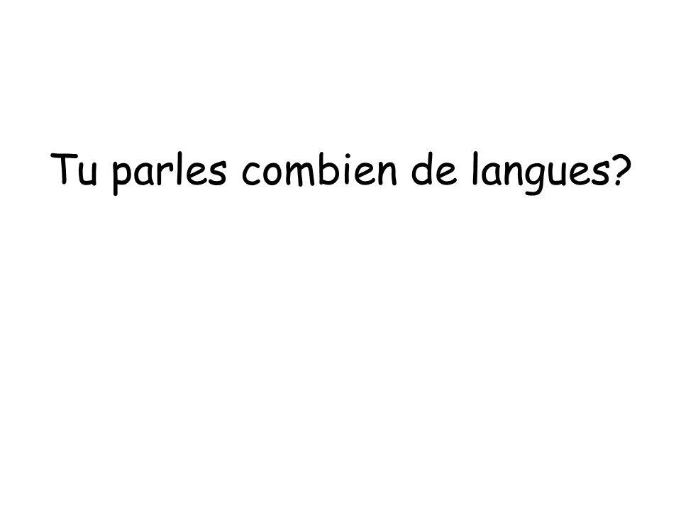 Tu parles combien de langues?