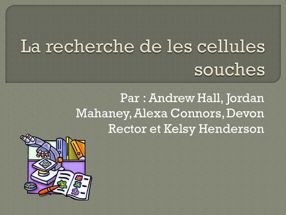 Par : Andrew Hall, Jordan Mahaney, Alexa Connors, Devon Rector et Kelsy Henderson