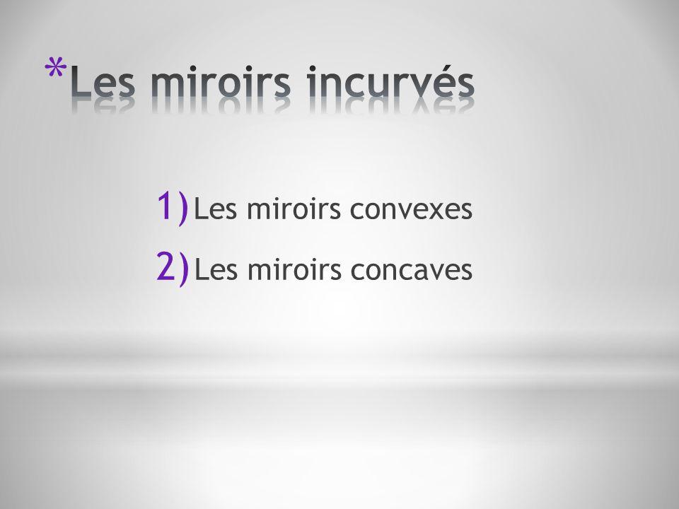 1) Les miroirs convexes 2) Les miroirs concaves