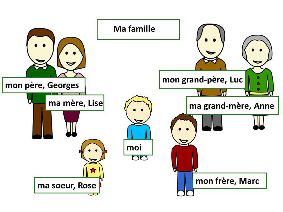 Jean est le frère de Mireille. LucieMireille Jean