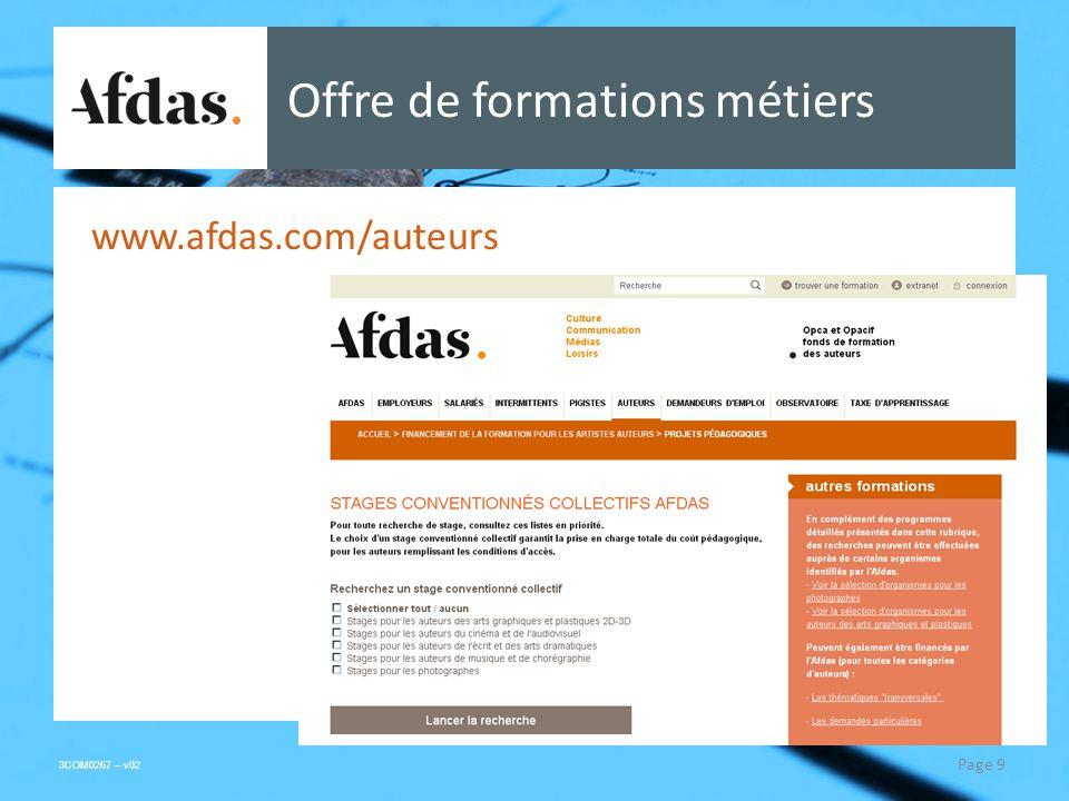 3COM0267 – v02 Offre de formations métiers www.afdas.com/auteurs Page 9