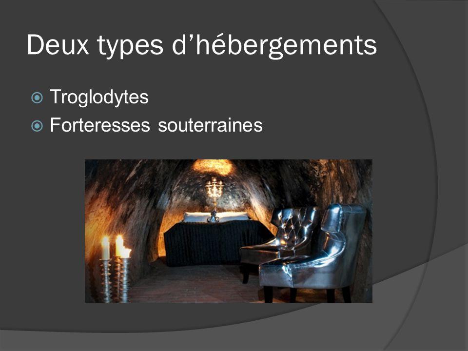 Deux types dhébergements Troglodytes Forteresses souterraines