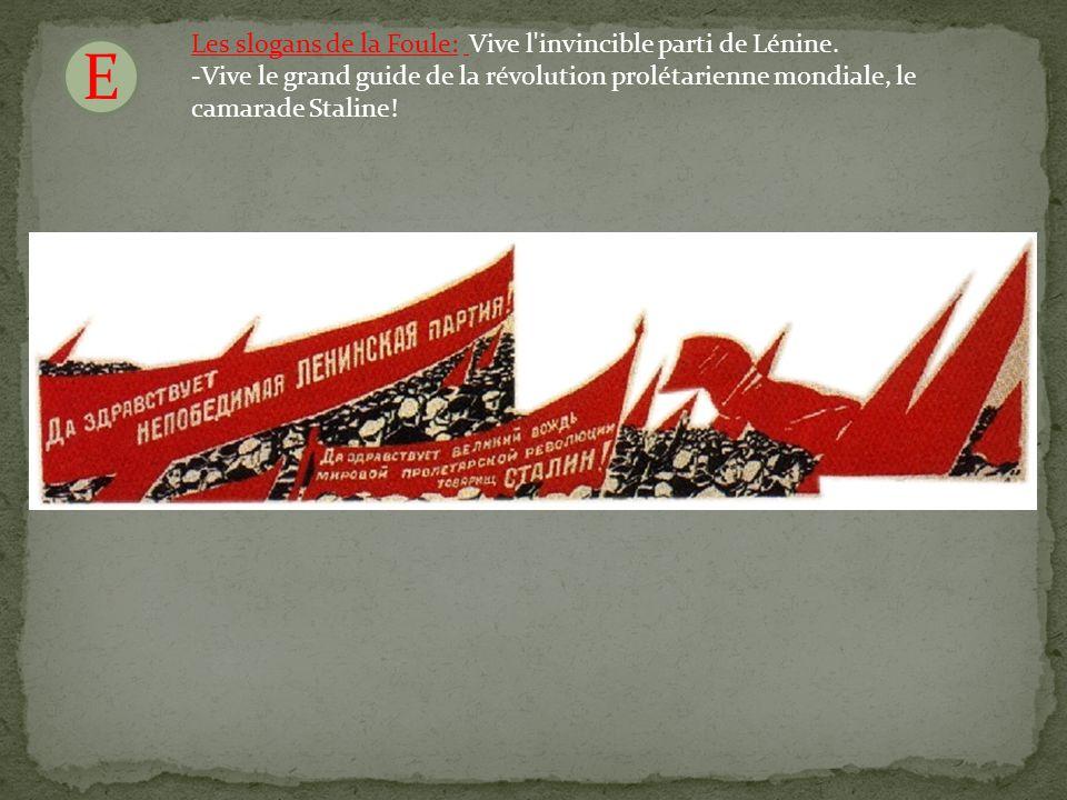 F Le commanditaire de laffiche: Staline est au pouvoir depuis 1928.