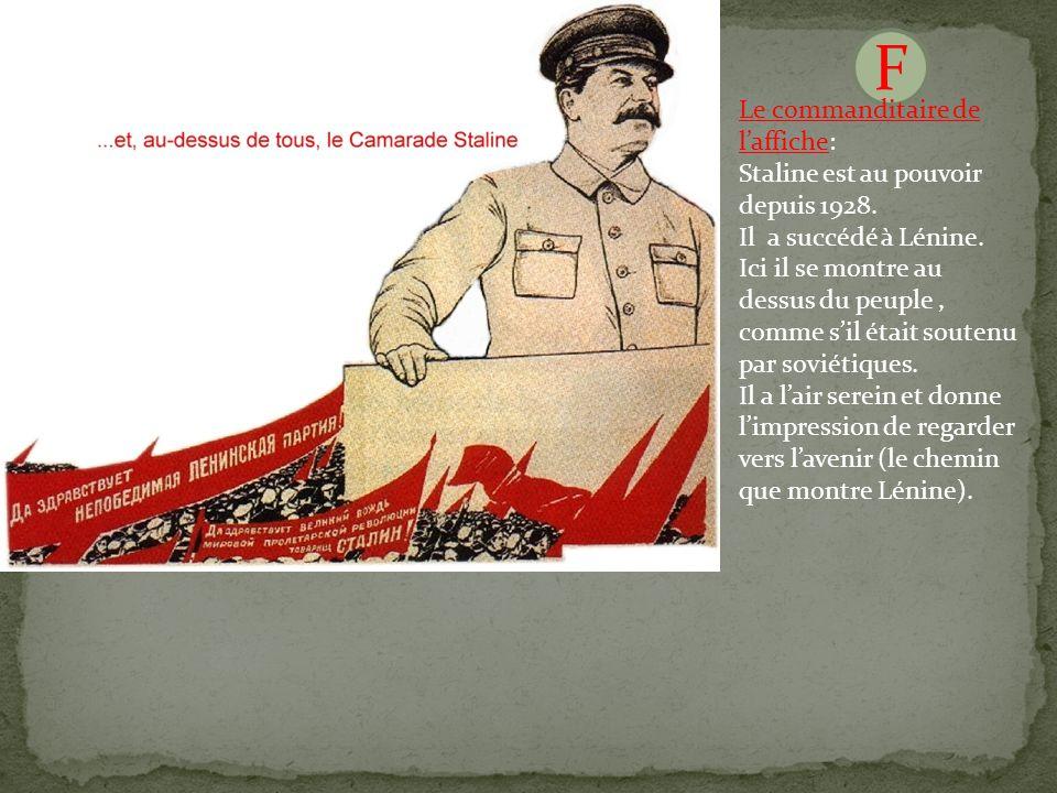 H F Derrière Staline, on voit ses réalisations.