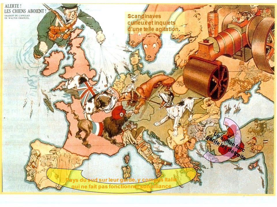 Pays du sud sur leur garde, y compris Italie qui ne fait pas fonctionner son alliance Scandinaves curieux et inquiets dune telle agitation. Le sultan