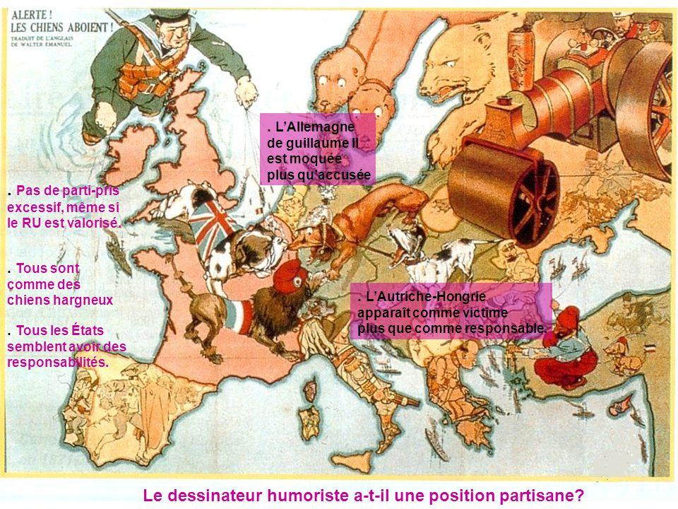 Le dessinateur humoriste a-t-il une position partisane?. Pas de parti-pris excessif, même si le RU est valorisé.. Tous les États semblent avoir des re