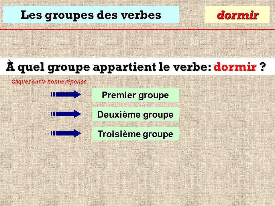 Les groupes des verbes Le verbe aller appartient au 3ième groupe. Premier groupe aller Deuxième groupe Troisième groupe Malgré sa terminaison en –er,