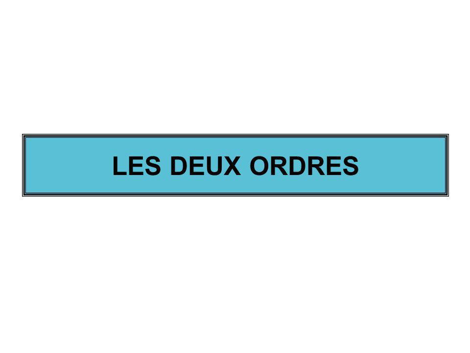 LES DEUX ORDRES