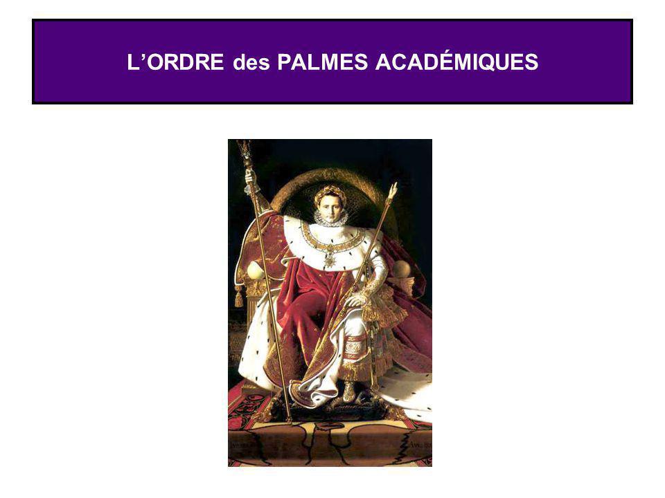 LORDRE des PALMES ACADÉMIQUES