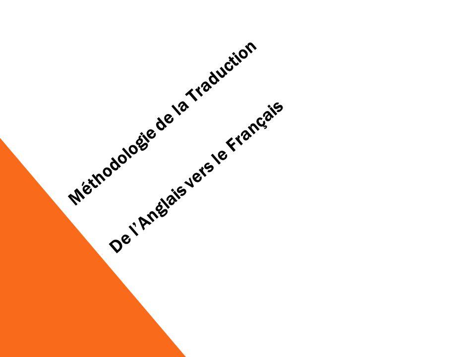 Méthodologie de la Traduction De lAnglais vers le Français