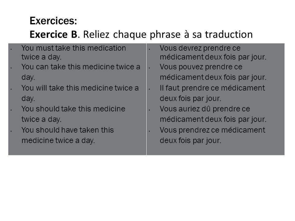 Exercices: Exercice B.