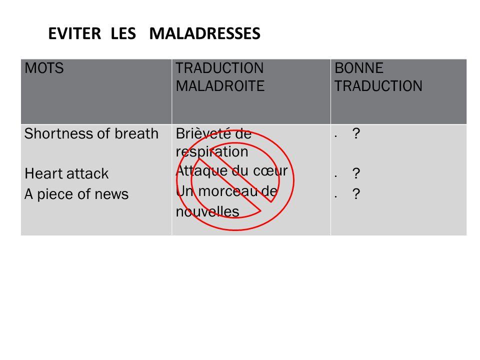 Autres Conseils Par ex: UTILISER DES MOTS DUNE AUTRE CATEGORIE GRAMMATICALE Ex :The nurse asked him if he was in pain.