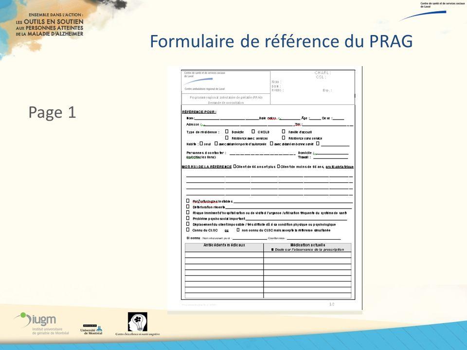 Formulaire de référence du PRAG Page 1