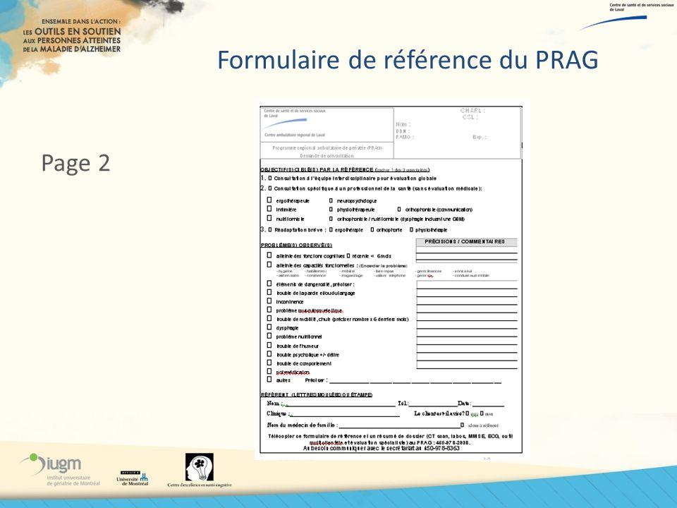 Formulaire de référence du PRAG Page 2