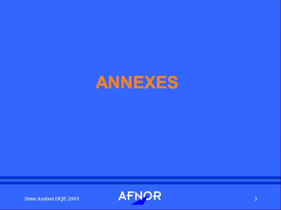 3ème Assises HQE 20033 ANNEXES