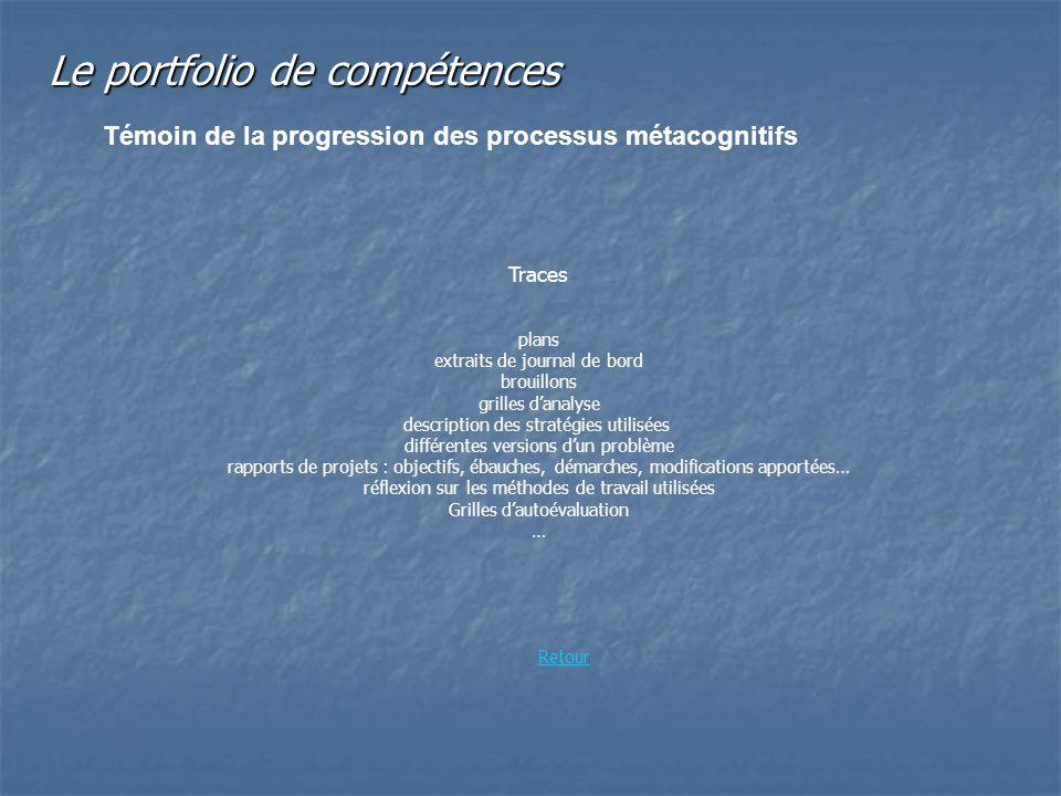 plans extraits de journal de bord brouillons grilles danalyse description des stratégies utilisées différentes versions dun problème rapports de proje