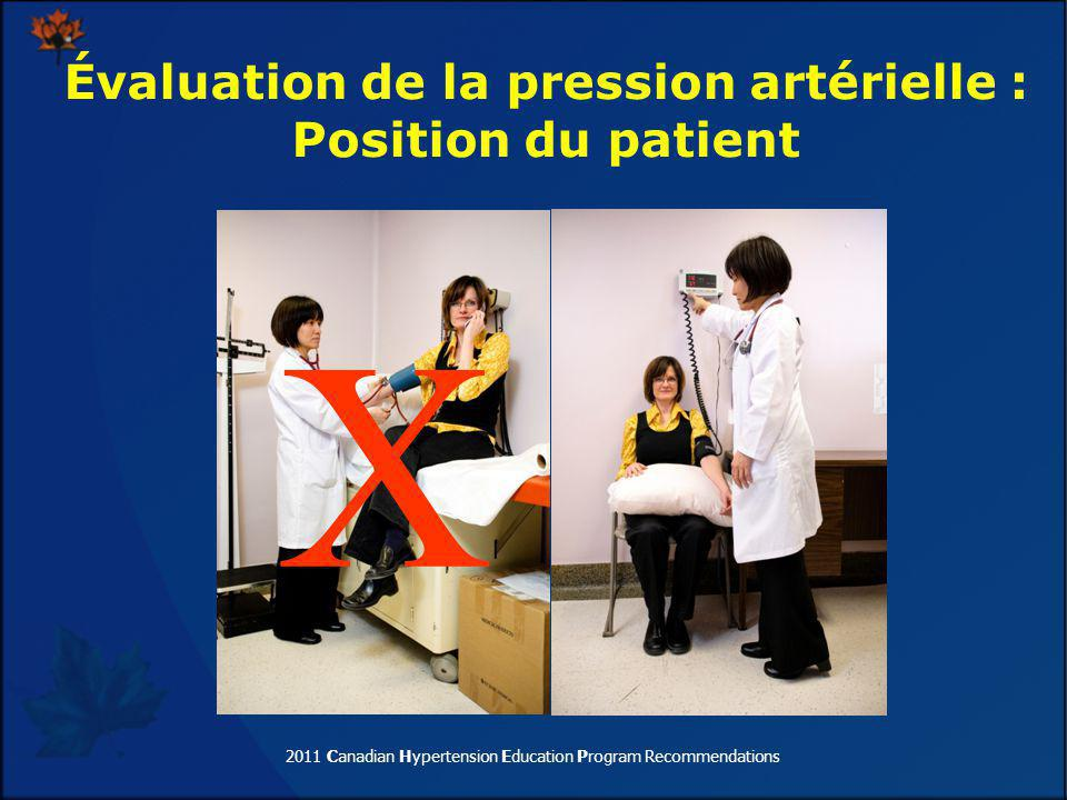 2011 Canadian Hypertension Education Program Recommendations X Évaluation de la pression artérielle : Position du patient