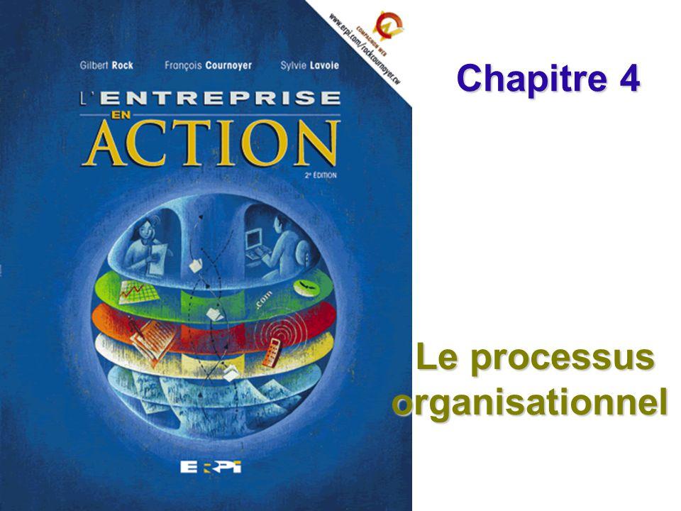 Chapitre 4 Le processus organisationnel Diapositive 2© ERPI – Lentreprise en action, 2e édition.