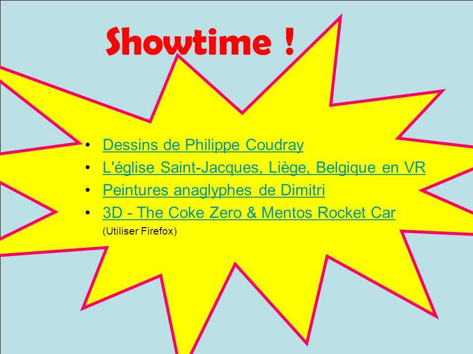 Showtime ! Dessins de Philippe Coudray L'église Saint-Jacques, Liège, Belgique en VR Peintures anaglyphes de Dimitri 3D - The Coke Zero & Mentos Rocke