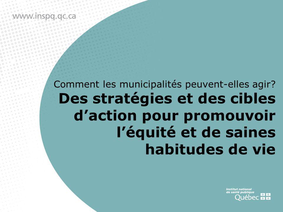 Comment les municipalités peuvent-elles agir.