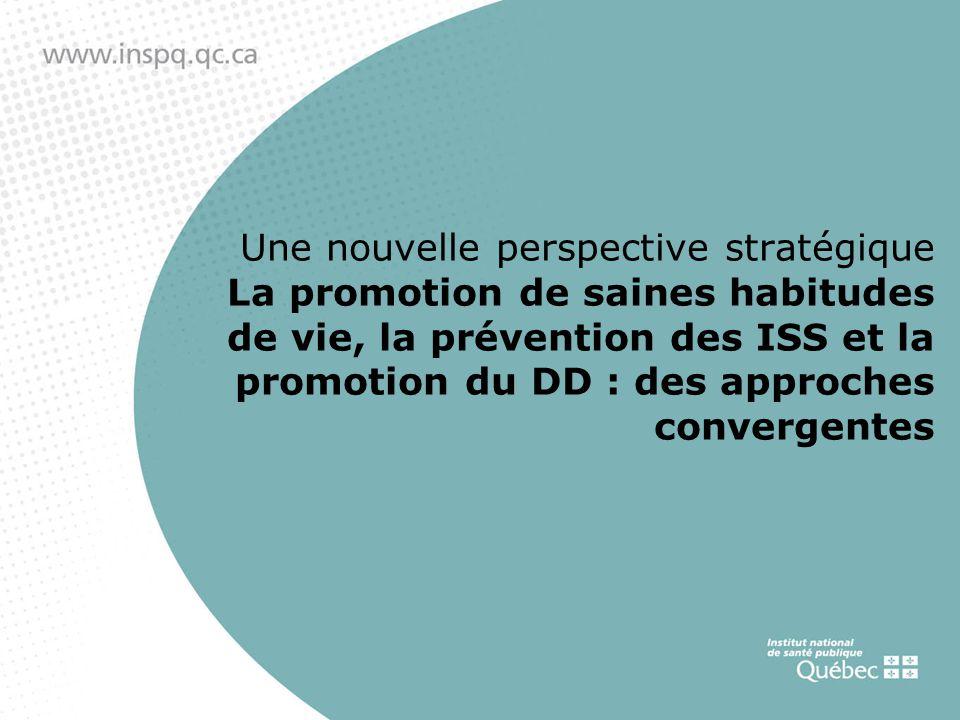 Une nouvelle perspective stratégique La promotion de saines habitudes de vie, la prévention des ISS et la promotion du DD : des approches convergentes