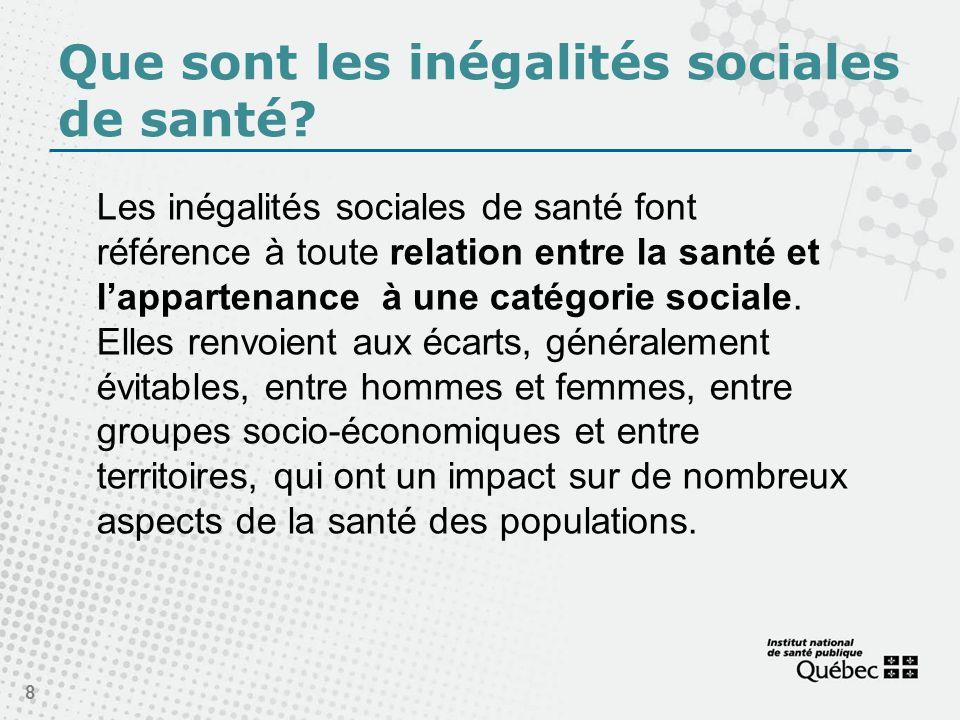Que sont les inégalités sociales de santé.