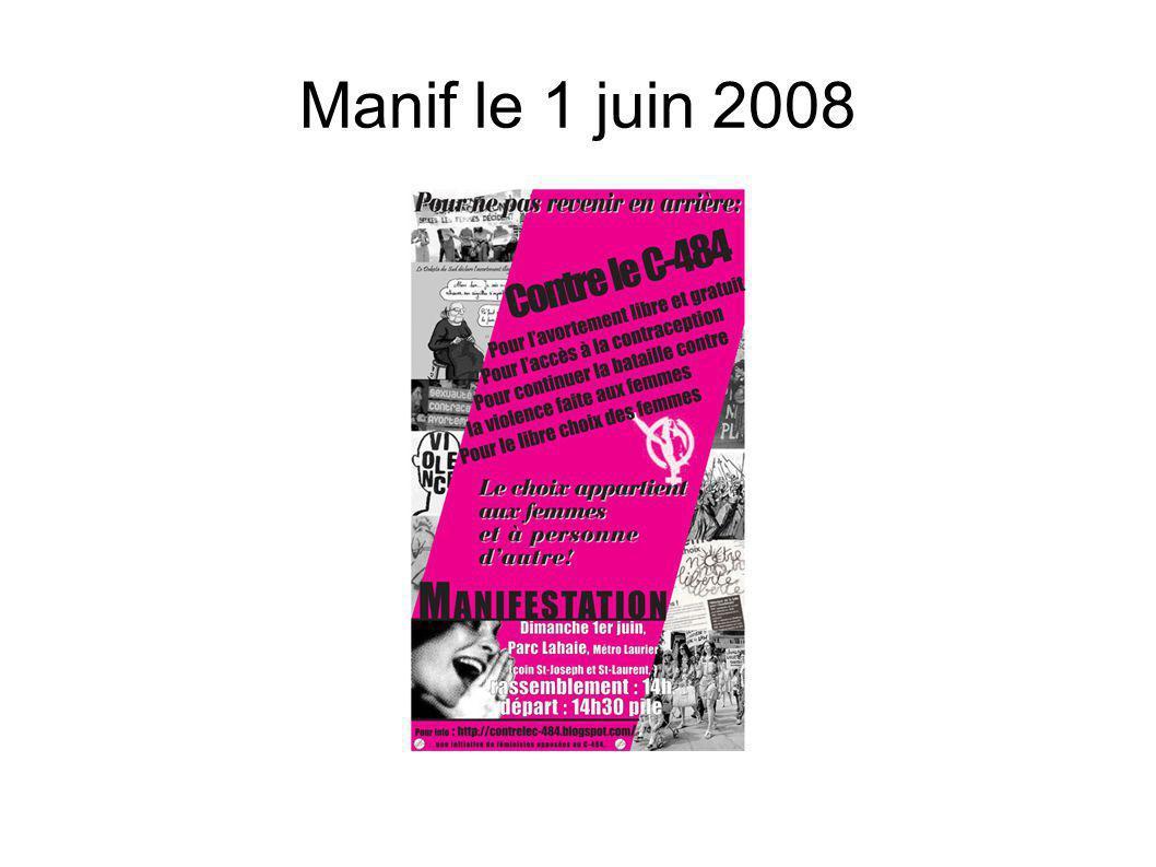 Manif le 1 juin 2008