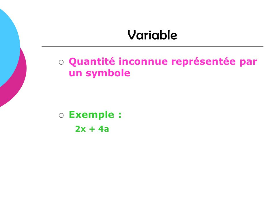 Multiplication de polynômes Multiplier deux expressions algébriques c est multiplier chacun des termes de l une par ceux de l autre.