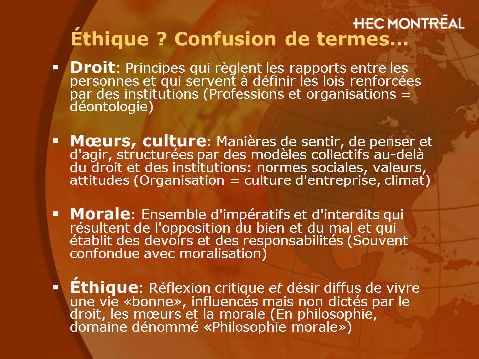 Exemple de confusion : Enron Le scandale d Enron est-il...