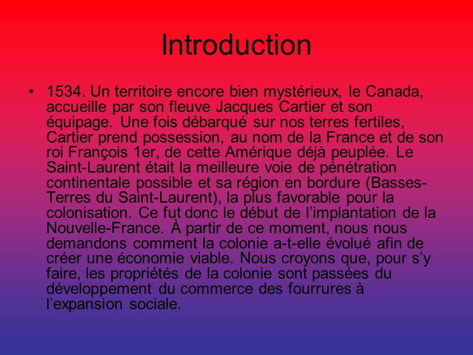Introduction 1534. Un territoire encore bien mystérieux, le Canada, accueille par son fleuve Jacques Cartier et son équipage. Une fois débarqué sur no