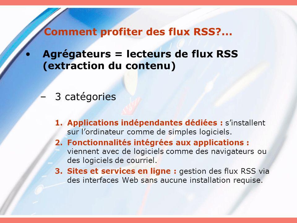 Comment profiter des flux RSS?...