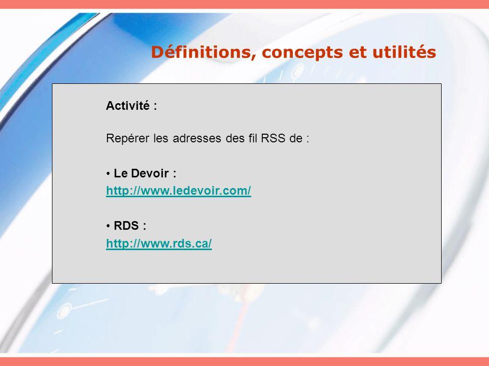 Exemple de gestion des flux RSS avec IE 7
