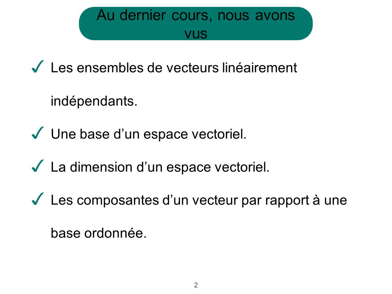 13 Exemple: Supposons quon ait trois points dans lespace et quon cherche le point déquilibre statique.