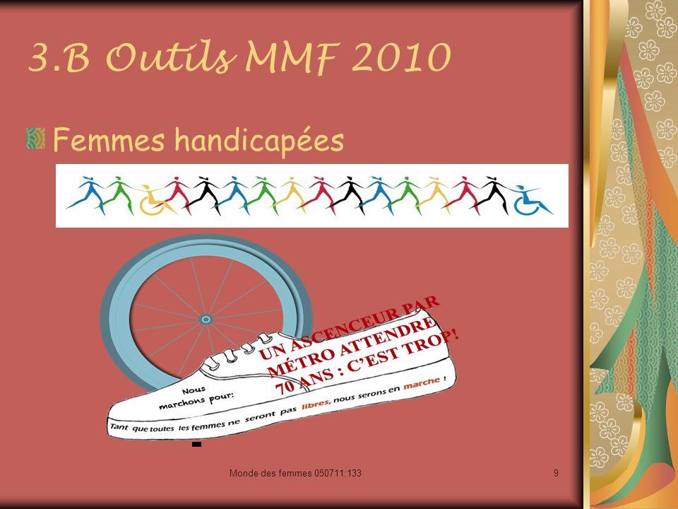 Monde des femmes 050711:1339 3.B Outils MMF 2010 Femmes handicapées