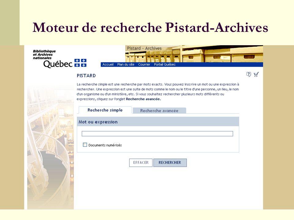 11 Moteur de recherche Pistard-Archives