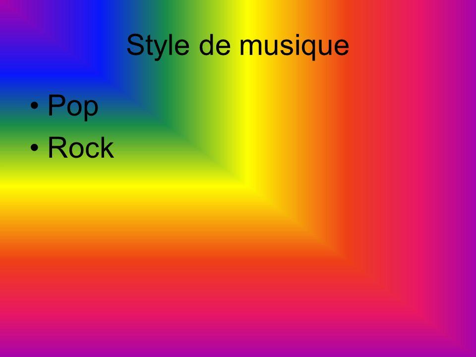 Style de musique Pop Rock
