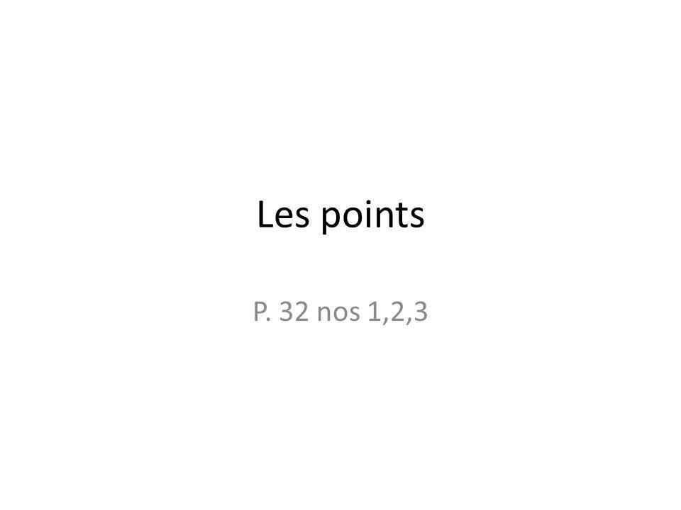Théorie Les sortes de points Le point final : à la fin dun phrase déclarative ou impérative Ex.