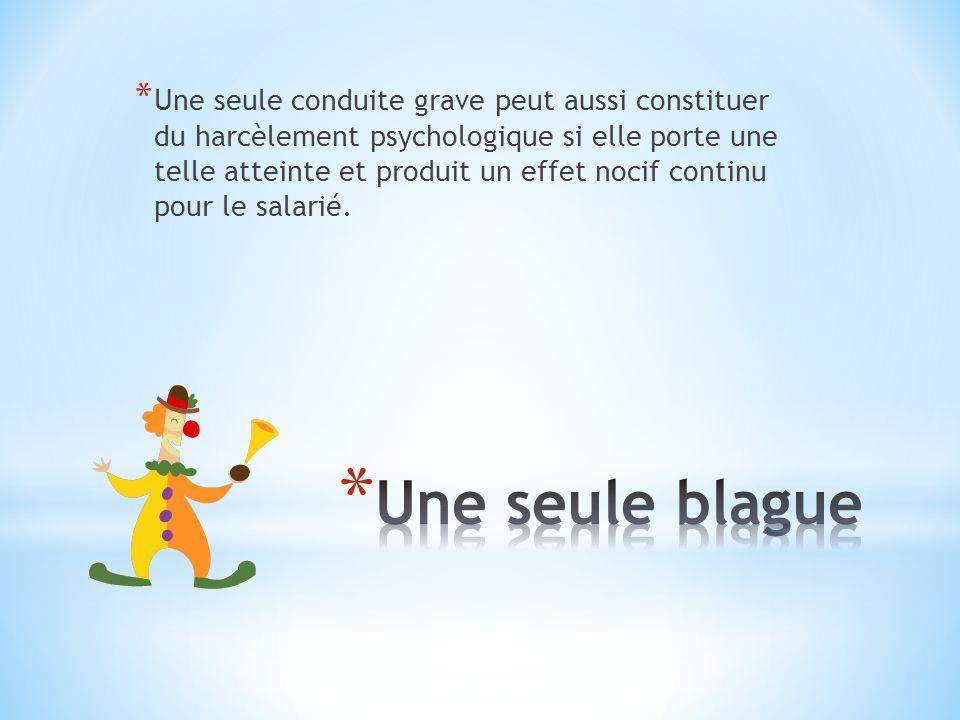 * Grande entreprise syndiqué Lemployeur doit former des gestionnaires pour intervenir le plus rapidement lors de cas de harcèlement.