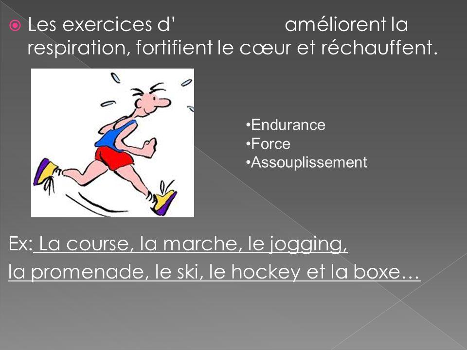 Les exercices d améliorent la respiration, fortifient le cœur et réchauffent.