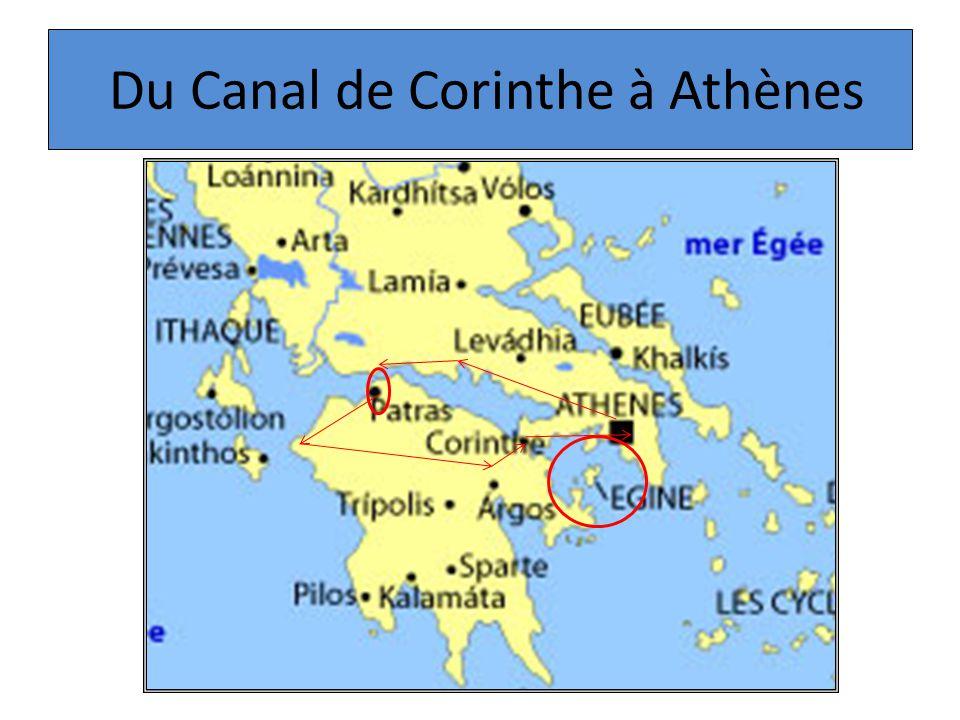 Du Canal de Corinthe à Athènes
