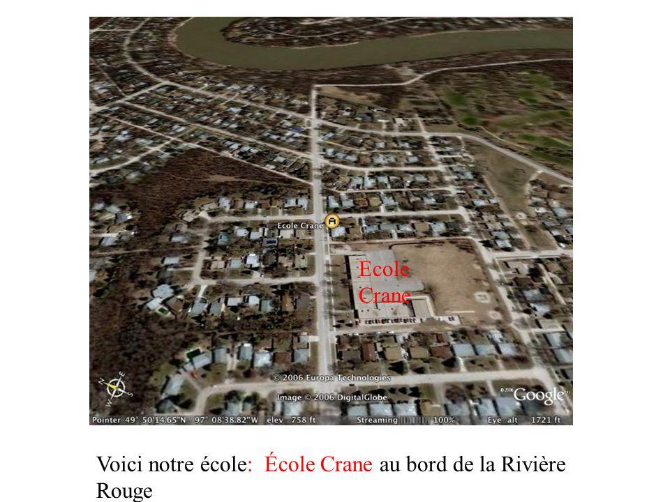 Voici notre école: École Crane au bord de la Rivière Rouge Ecole Crane