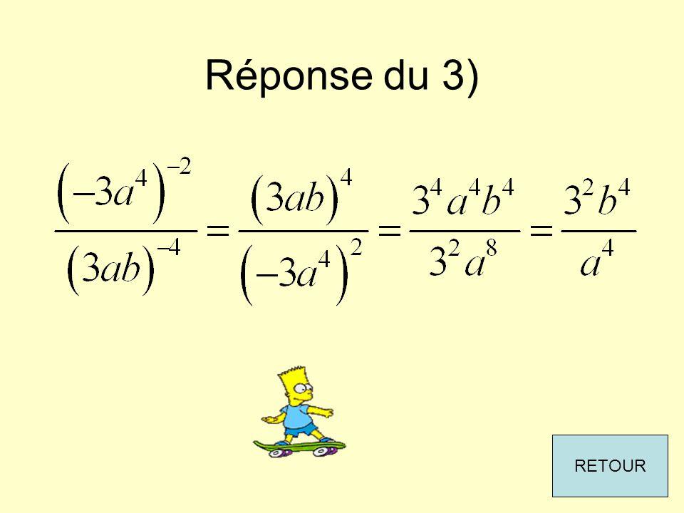 Réponse du 3) RETOUR